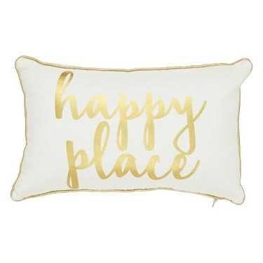 Ombre Blu Harper Happy Place Cushion White