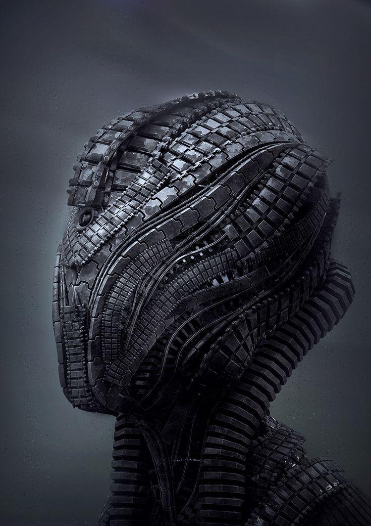 Tech head by Riyahd Cassiem, wonderful modeling and rendering
