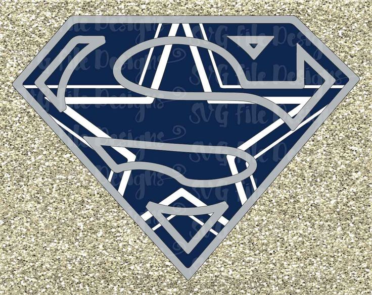 Dallas Cowboys Superman Football Logo Design Cutting File / Clipart in Svg Eps Dxf Png and Jpeg for Cricut and Silhouette