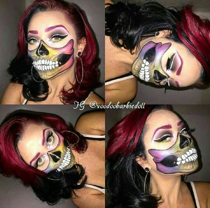 Colorful Skull Mouth. Check out the artist on Instagram @Voodoobarbiedoll