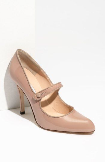 c3195edadd86 Free shipping and returns on Manolo Blahnik  Campy  Pump at Nordstrom.com.  Tonal woven trim delicately traces a patent leather mary jane with a tall  wrapped ...