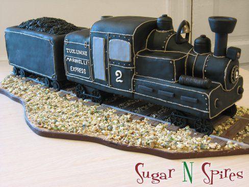 Steam Engine Train Cake