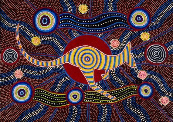 Red Kangaroo ORIGINAL PAINTING by Mirree by DreamsofCreationAust