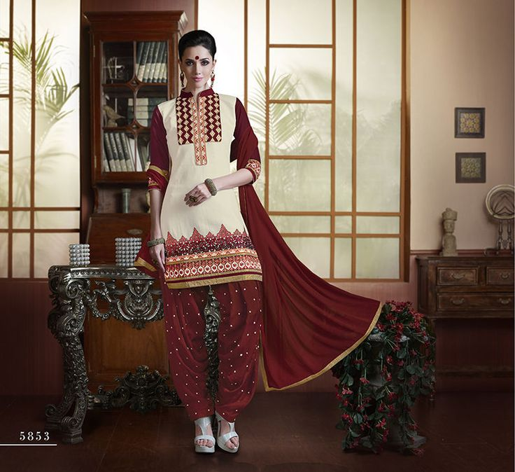 Indian Designer Bollywood Patiyala Suit Salwar Kameez Dress Material 616853
