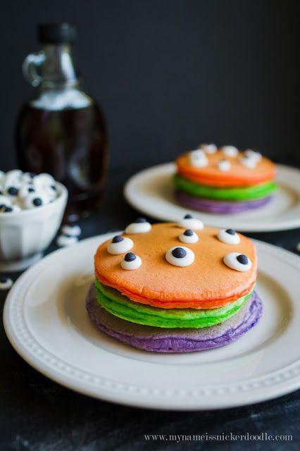 Halloween Trick or Treat Pancakes