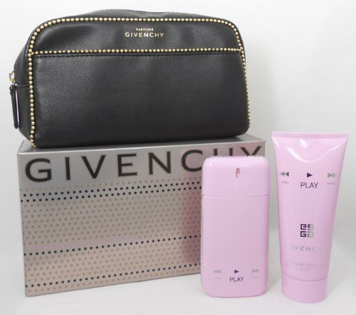 Givenchy Play 3 piece set for Women (1.7 oz. Eau De Parfum Spray + 3.3 oz. Body Lotion + Pouch) by Givenchy. $56.99. Givenchy Play 3 piece set for Women (1.7 oz. Eau De Parfum Spray + 3.3 oz. Body Lotion + Pouch). Givenchy Play 3 piece set for Women (1.7 oz. Eau De Parfum Spray + 3.3 oz. Body Lotion + Pouch) For important information, see About Seller.