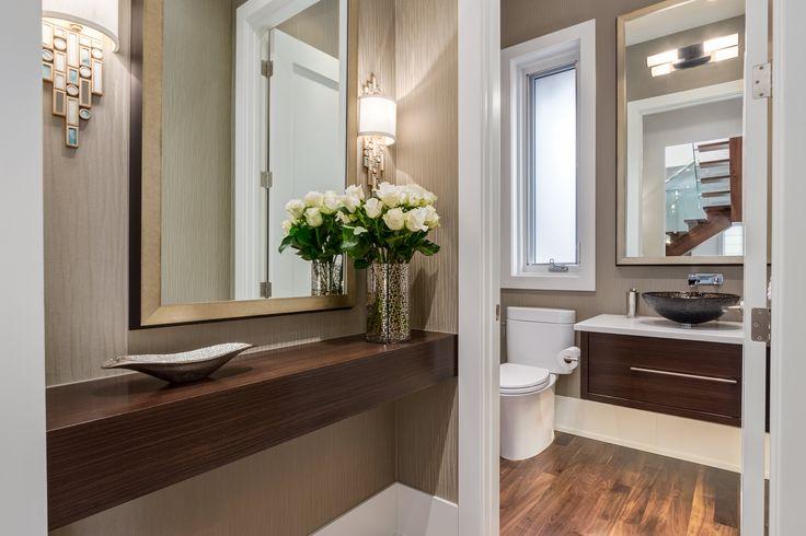 Contemporary Powder Room by Johnson & Associates Interior Design