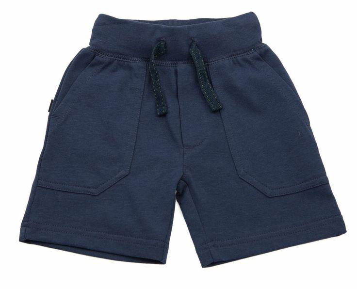 Milky track short in indigo.