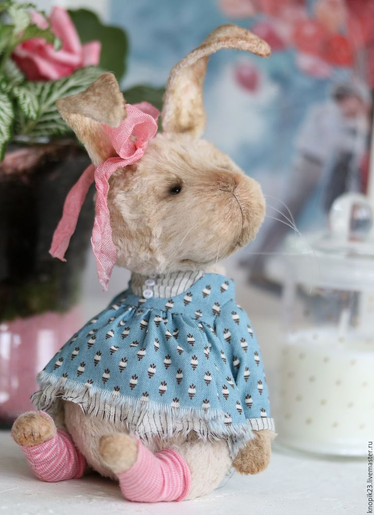 Купить Ниви - бежевый, кролик, тедди кролик, крольчиха, тедди зайка, друзья тедди, вискоза