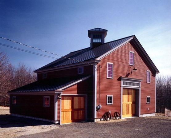 Barn houses barn style guest house maine timber frame for Barn frame homes