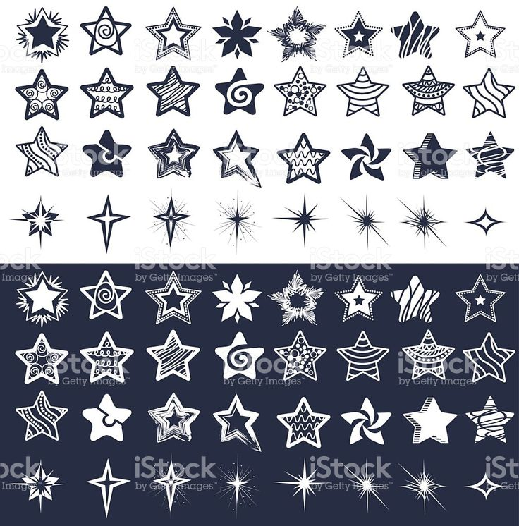 Set of stars royalty-free stock vector art