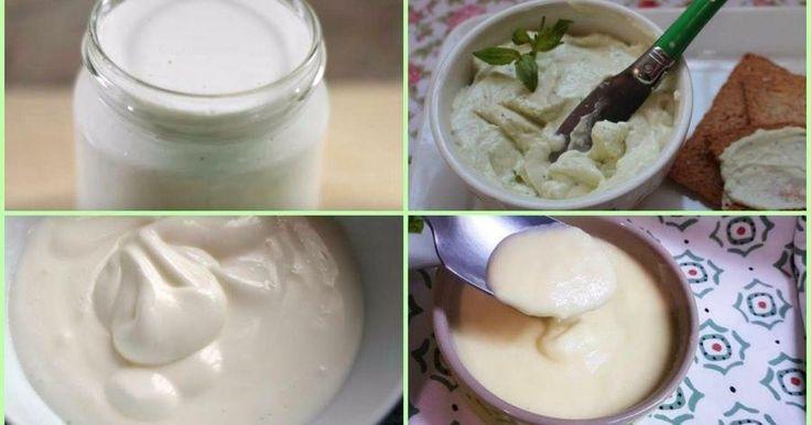 4 recetas de mayonesas sin huevo