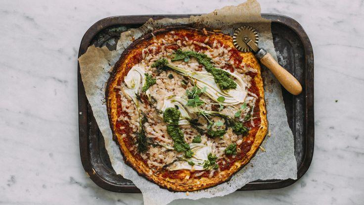Pizza med blomkålbunn