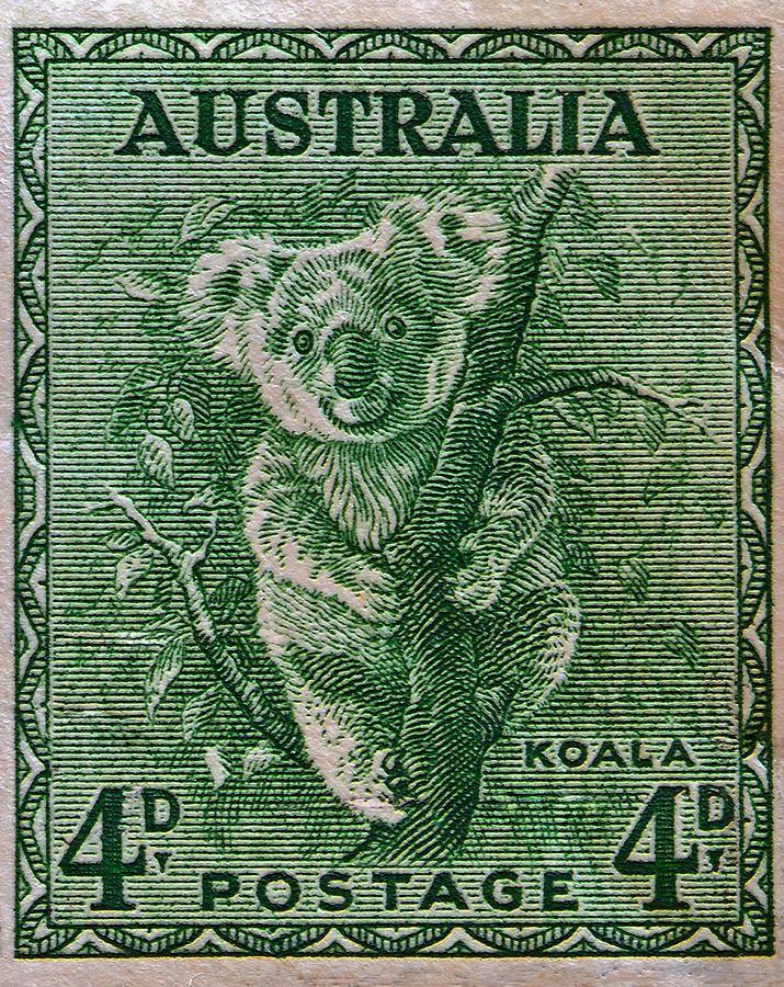 1937 Australia Koala Stamp.