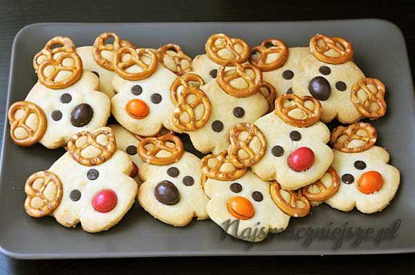 Ciasteczka maślane Renifery, Renifery, ciasteczka dla dzieci, ciasteczka maślane, Renifer mikołaja, Butter Cookies Reindeer, reindeer, cookies for kids, butter cookies, Santa Claus Reindeer