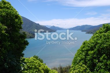 Marlborough Sounds, New Zealand Royalty Free Stock Photo