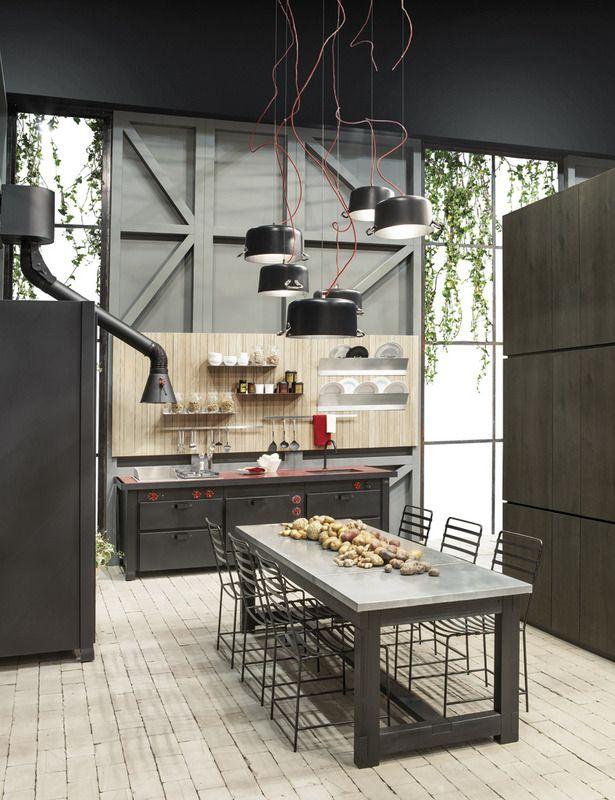 71 best images about cocinas estilo industrial on pinterest industrial studios and hipster - Muebles de cocina estilo retro ...