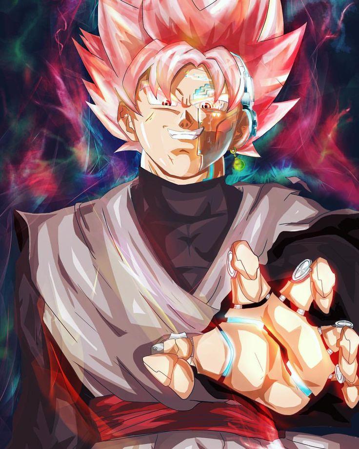 Rose Goku digital painting on iPad Procreate 🐉🍅 by