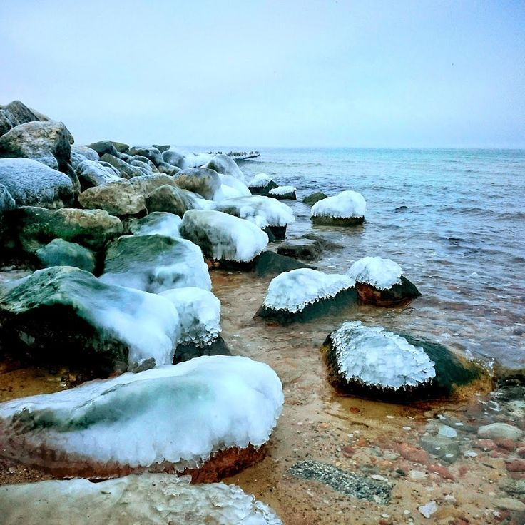 Калининград море зима