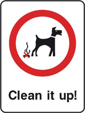 Clean it up playground safety sign