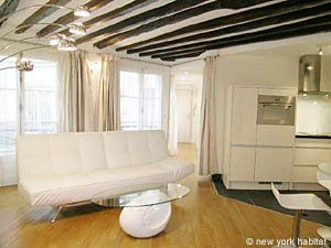 Paris Accommodation 1 Bedroom Rental in Tuileries, Le Louvre - Les Halles - Châtelet (PA-3934)