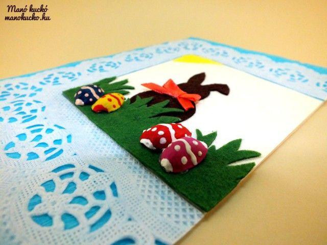 Húsvéti képeslap készítés - Manó kuckó