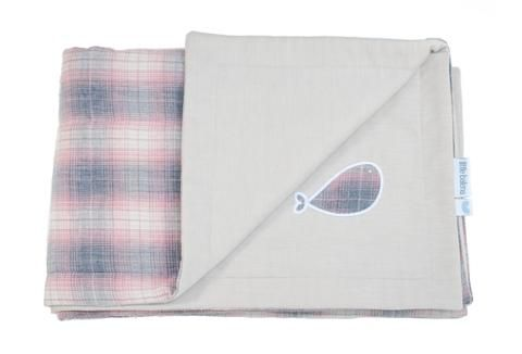 Little Balena:  Using beautiful oxford fabric that was traditionally used for men's dress shirts is a choice that has allows the quilts to last and continue to be used after years of washing.