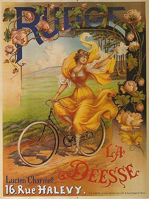 RUDGE Fashion Lady Bicycle Bike Yellow Dress Fine Vintage Poster Repro FREE S/H