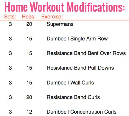 Back and Biceps. 4/20 Modified for an at home workout.