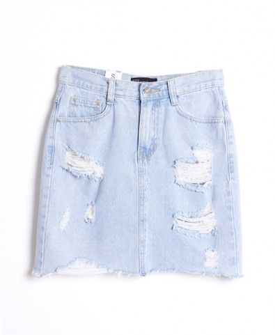 This denim skirt is perfect