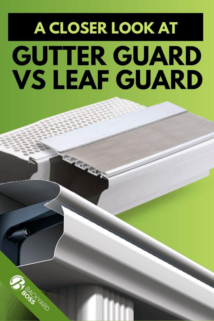 A close look at gutter guard vs leaf guard leaf guard