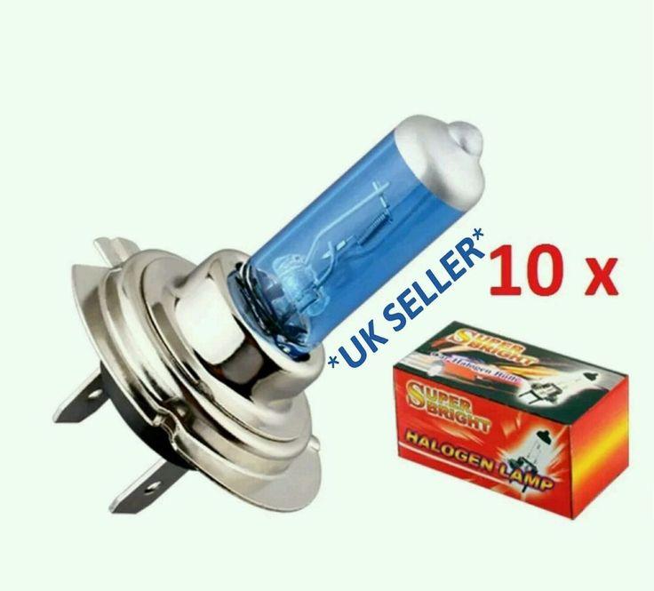 10x H7 12v 55w Halogen Car Headlight Headlamp Bulb BRAND NEW *UK SELLER*