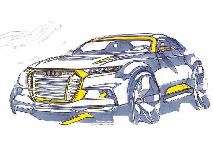 Audi Crosslane Coupe Concept - Design Sketch http://www.carbodydesign.com/design-sketch-board/page/57/