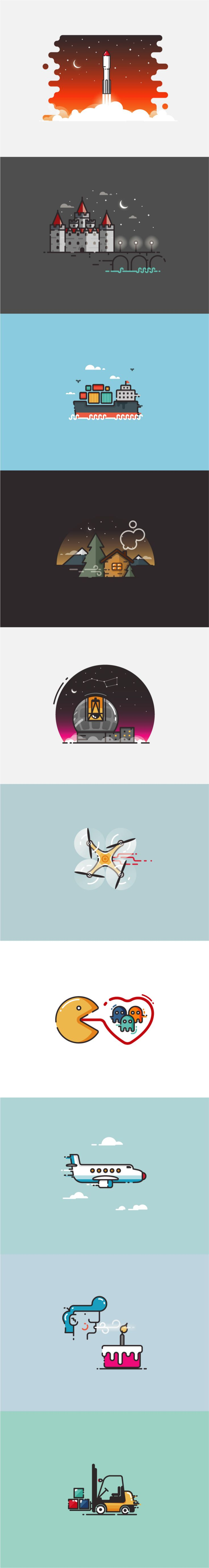 Infographic Illustrations on Behance by @newkoko2020 #outline #illustration…