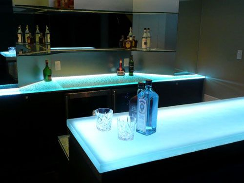 Bar Table Top Lit Up With Leds Bar And Restaurant
