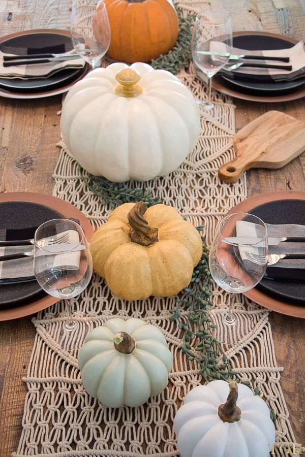 Fall Table Decor Ideas. Fall Tablescapes. Fall Table Centerpieces. Fall Table Decorations.
