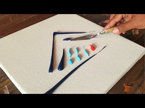 Demonstration of colorful acrylic abstract painting / Easy & Relaxing / Project 365 days / day No. 0302 – YouTube