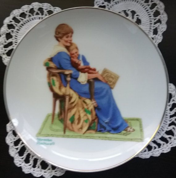 Norman Rockwell Plate Bedtime Norman Rockwell by jeanienineandme