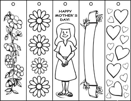 Mothers Day Coloring Pages For Kids 2014