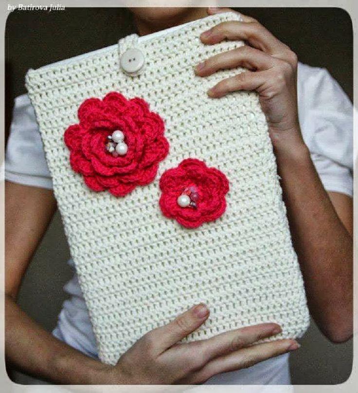 crochelinhasagulhas: Capa de crochê para notebook