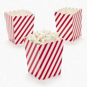 Red and White stripe popcorn tub.  http://www.jillybeankids.com/peanutspretzel-concession-supplies.html
