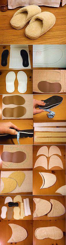 Pantuflas tela toalla