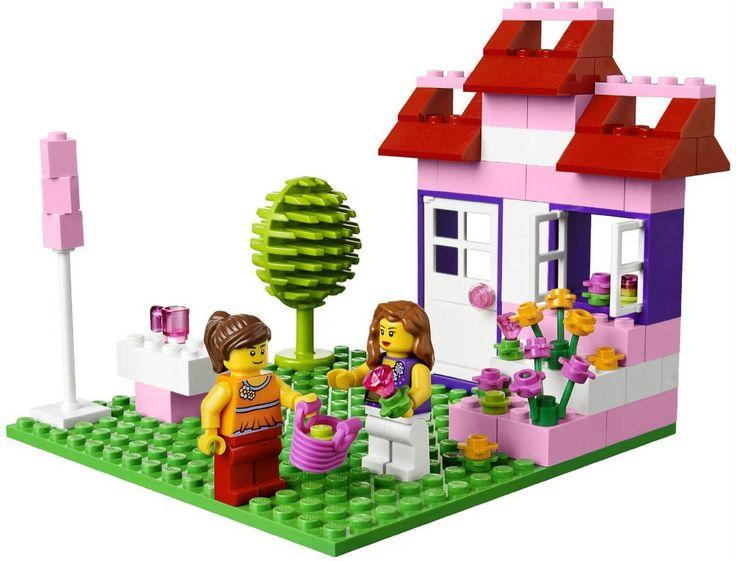Deze LEGO set wordt geleverd in een roze opbergkoffer, leuk voor kleine dames! #LEGO #girls