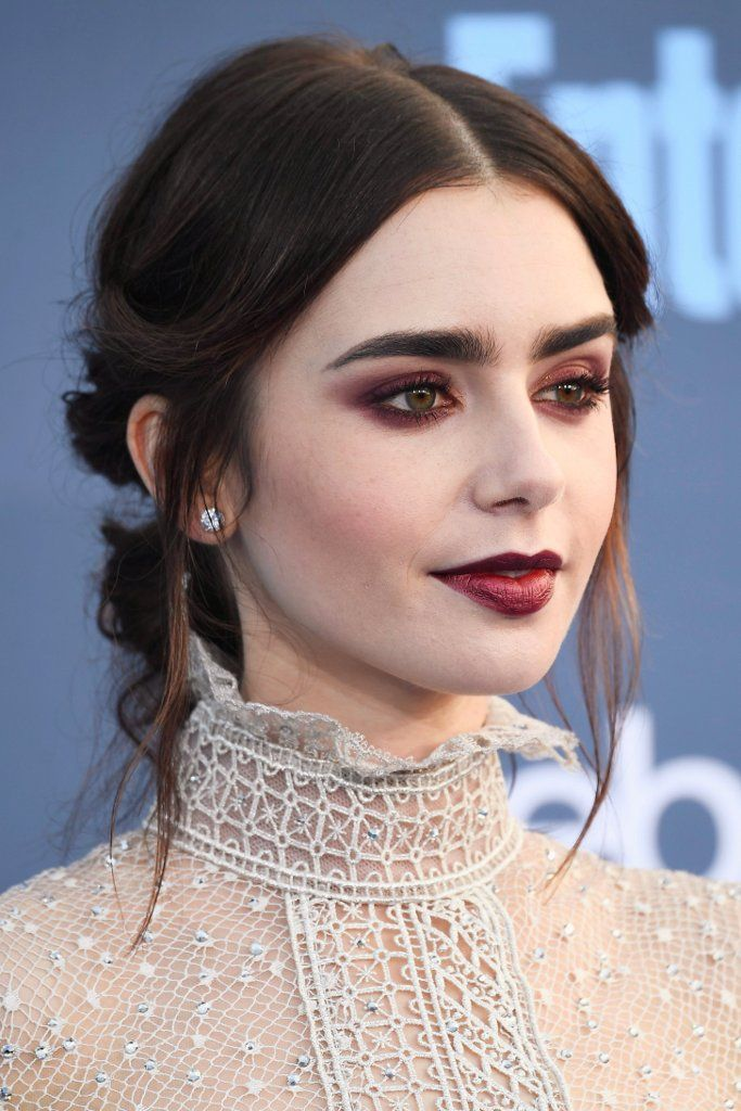 Lily Collins Looks Like a Sexy Vampire at the 2017 Critics' Choice Awards