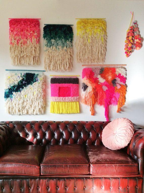 Tissages muraux colorés