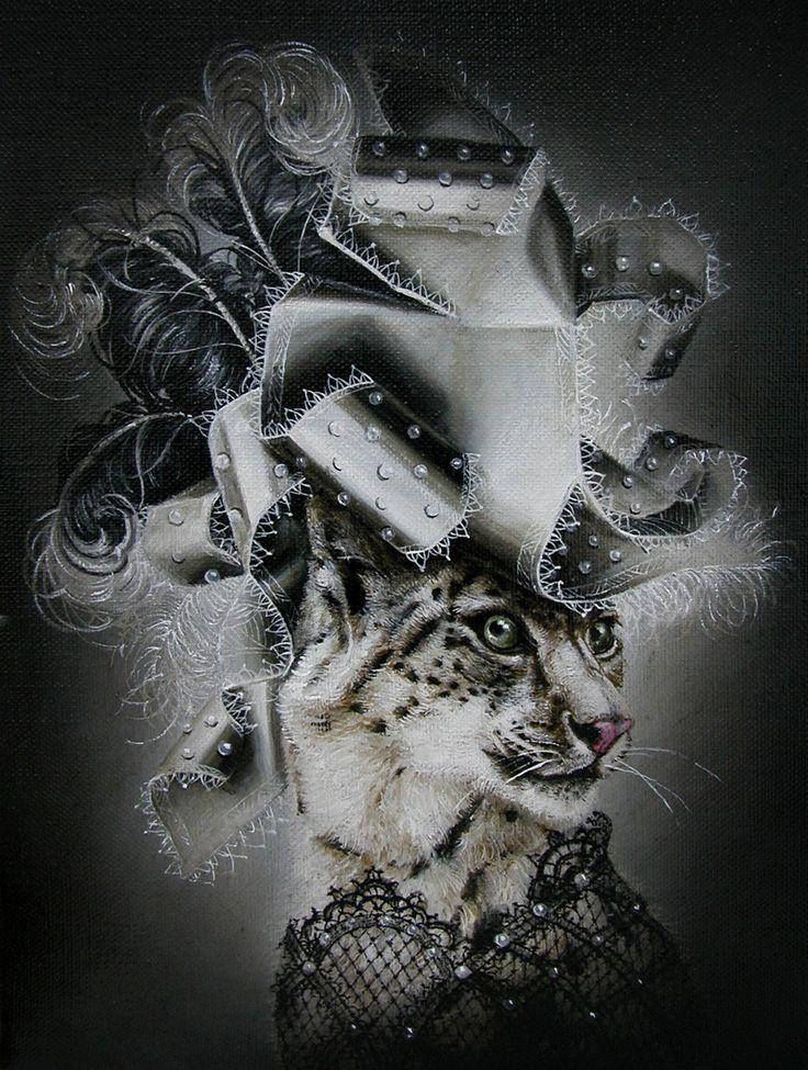 Snow Leopard (Noir et Blanc) from Modern Eden Gallery