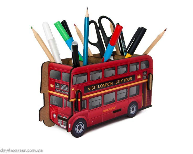 Органайзер для ручек и карандашей Лондонский Автобус