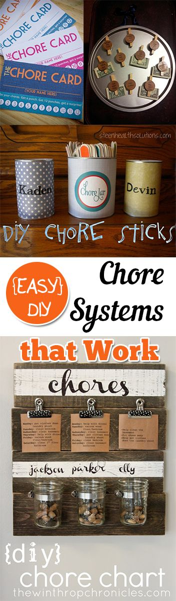 {EASY} DIY Chore Systems that Work. organization, organizing hacks, stay organized, home, home decor, cleaning, cleaning tips, diy organization