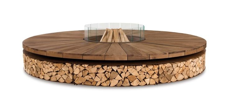 Artu Fire Pit  Contemporary, Industrial, Organic, Abstract, Art Deco, Coastal, MidCentury  Modern, Rustic  Folk, Southwestern, Traditional, Glass, Metal, Natural Material, Wood, Fireplace Element by Design Collectif