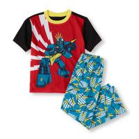 Short Sleeve Robot Rockstar Top & Printed Pants PJ Set